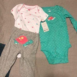 Size 6 month turtle set